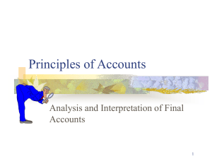 Principles of Accounts