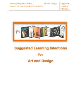 NLC Art and Design Suggested Learning Intentions1