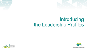 Introducing the Leadership Profiles Presentation Slides