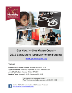 2015 Get Healthy Funding Theme: Strategic Collaborations