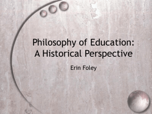 Philosophy of Education: A Historical Perspective