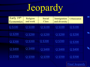 Chapter 9 Jeopardy - Leonard Lee Richards Jr.
