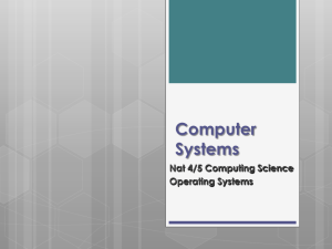 Operating Systems - Shawlands Academy