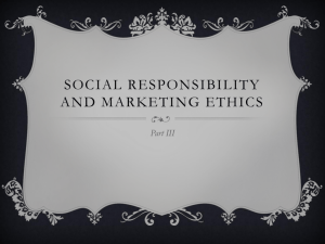 Social responsibility and marketing ethics Part 3
