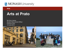 Arts at Prato - Monash University