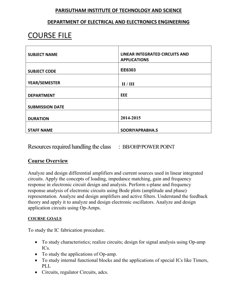 Course File Diffusion Of Impurities For Ic Fabrication 009279835 1 A367b9afc354e2ad7d64ba5d6e065c7a
