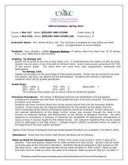 bio 105 syllabus rh studylib net Biology Laboratory Manual Biology Lab Report Outline
