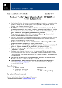 NTOEC Fact Sheet - Department of Education