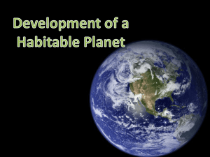 Development of a Habitable Planet