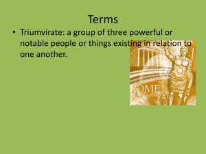 Julius Caesar Themes and Terms