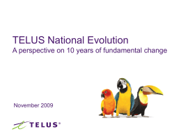 TELUS financial results