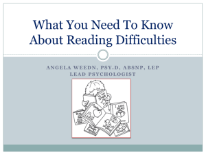 Profiling Reading Difficulties