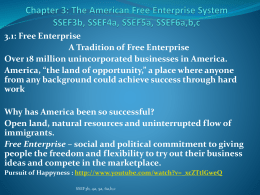Chapter 3: The American Free Enterprise System SSEF3b, SSEF4a