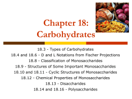 1152 chapter 18 post chemistry carbs