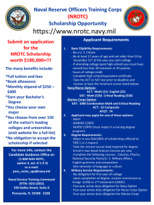 NROTC Colleges and Universities