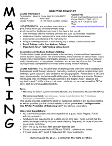 Course Syllabus - Monona Grove School District