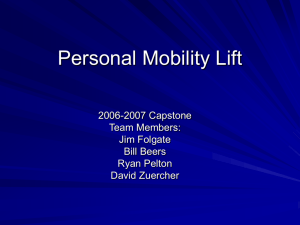 Personal Mobility Lift