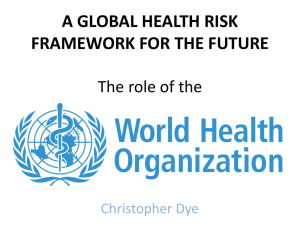 The World Health Organization's Role