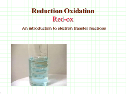 Oxidation-Reduction: A Reaction