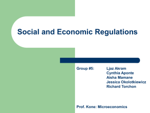 Question #9: What is a social regulation? Question #10: What is an