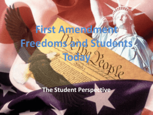 First Amendment Freedoms and Students Today