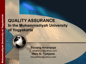 Quality Assurance In the Muhammadiyah University of