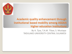 Academic quality enhancement through institutional based mobility