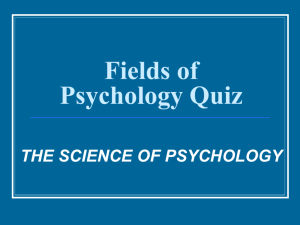 Fields of Psychology Quiz