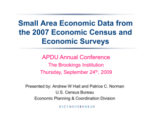 Andrew W. Hait, Survey Statistician, Economic Planning and