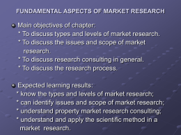 2 FUNDAMENTAL ASPECTS OF MARKET RESEARCH