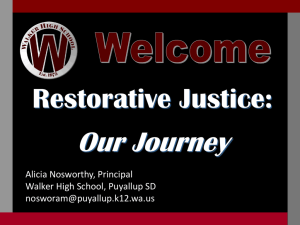 Restorative Justice is a relational approach to conflict. It approaches