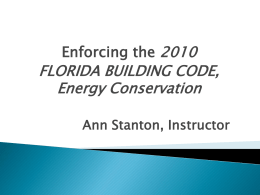 Code Administration - Florida Building Code