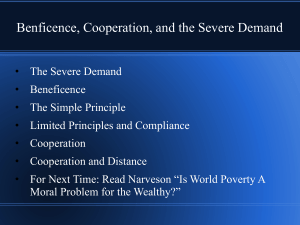Benficence, Cooperation, and the Severe Demand