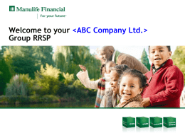 investment - Manulife Financial