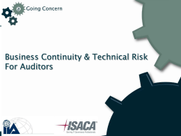 BCP for Auditors
