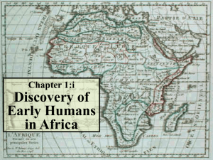 Chapter 1:i Discovery of Early Humans in Africa History