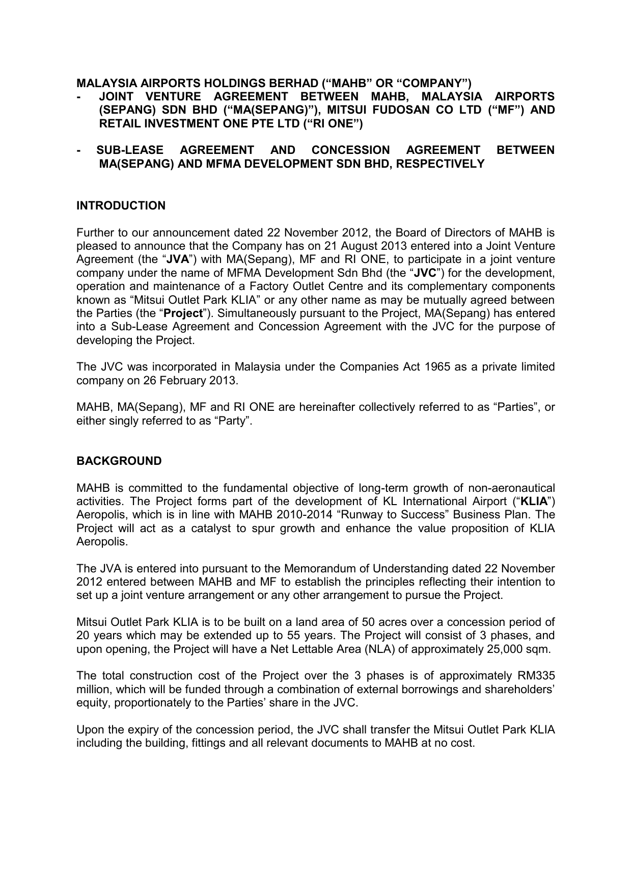 Mahb And Mf Jva Bursa Announcement 00919171