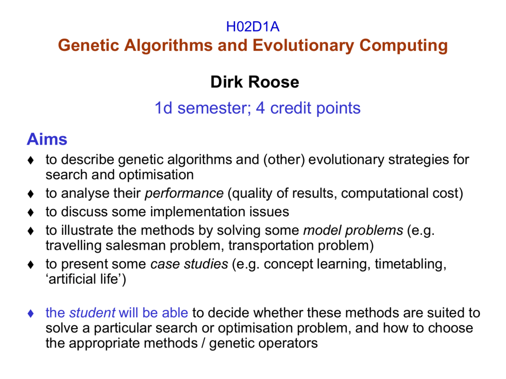 HK92 + H_x0008_K93 Genetic Algorithms and
