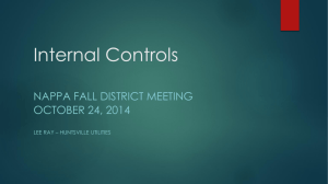 Internal Controls - The Joint Accounting Conference