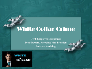 White Collar Crime Presentation