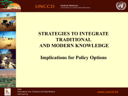 Strategies to Integrate Traditional and Modern Knowledge