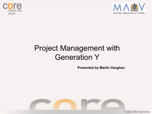 Project Management with Generation Y