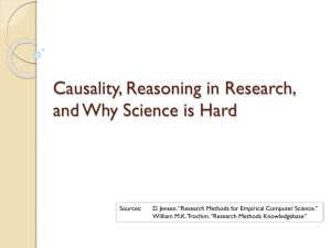 Causality and Reasoning in Research