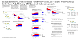 EQUILIBRIUM POPULATION METHODS FOR MARKOV MODELS