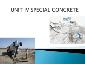 UNIT IV SPECIAL CONCRETE