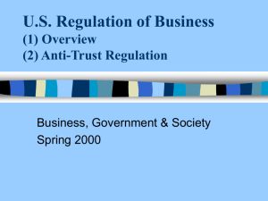 us government regulation and anti-trust policy