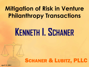 Mitigation of Risk in Venture Philanthropy