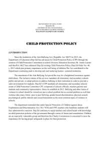 child protection policy i.introduction