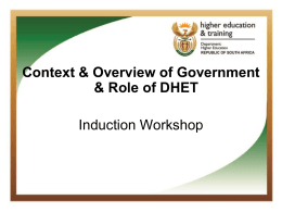 department of basic education - Department of Higher Education