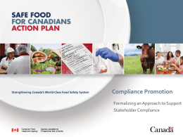 Compliance Promotion - the Canadian Health Food Association